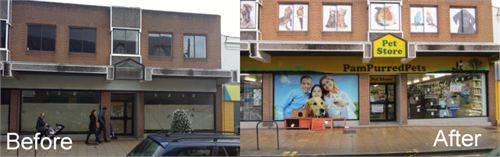 Pampurred pets Shop Front