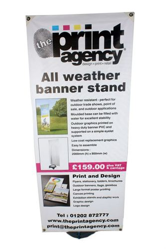 All weather outdoor banner