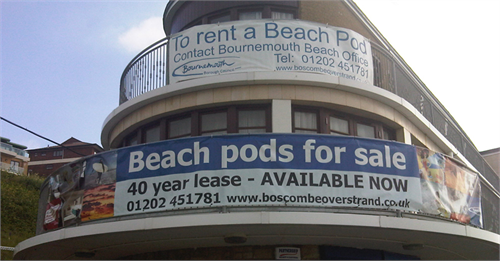 pvc banner bournemouth beach